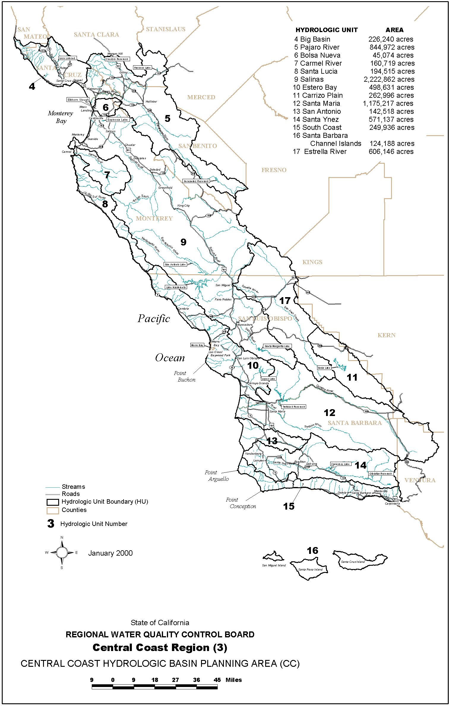 assessment of coastal water resources and watershed conditions at Moon Phase Calendar 2013 waterboards ca gov centralcoast images reg3map 001