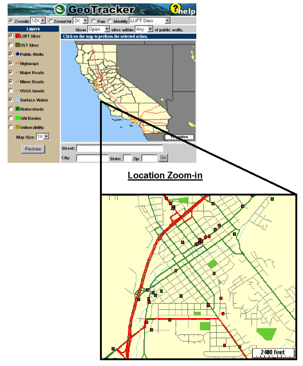 Central Coast Regional Water Quality Control Board - Location map ust