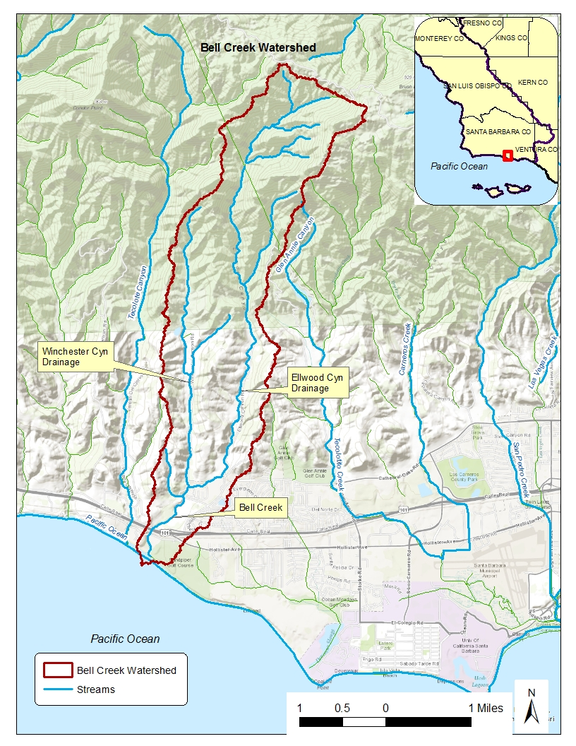 Central coast regional water quality control board for Belle creek