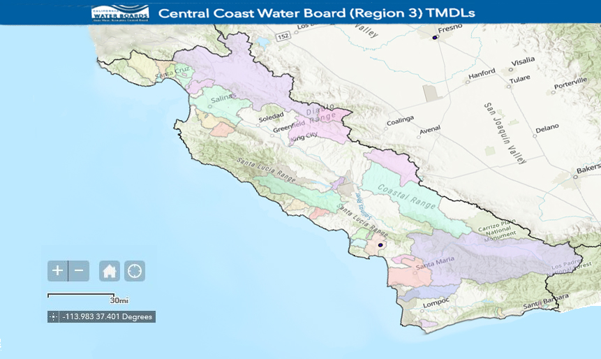 TMDL Projects | Central Coast Regional Water Quality Control