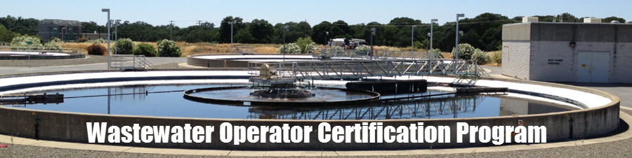 Wastewater Operator Certification Program banner