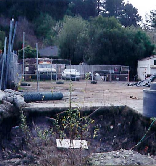 Bolinas Brownfield Site before Development