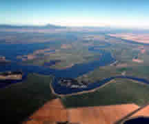 Aerial photo of the Sacramento-San Joaquin Delta.