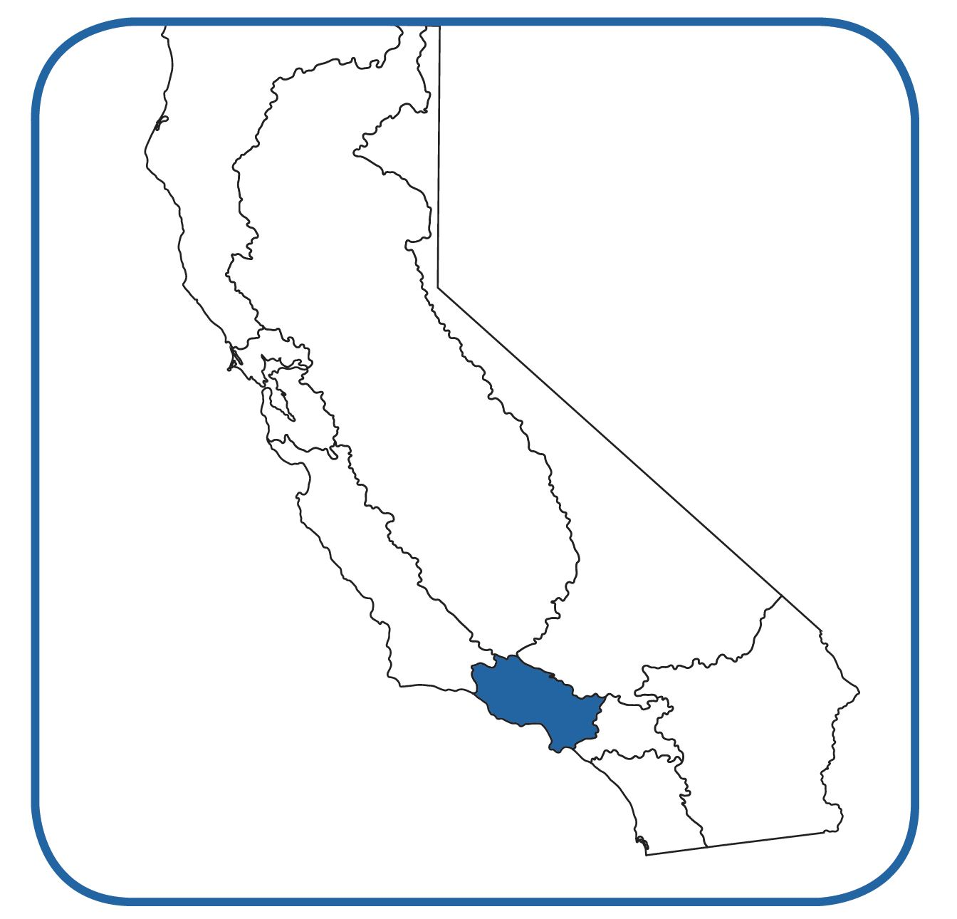 About Us Los Angeles Regional Water Quality Control Board - Us map with california highlighted