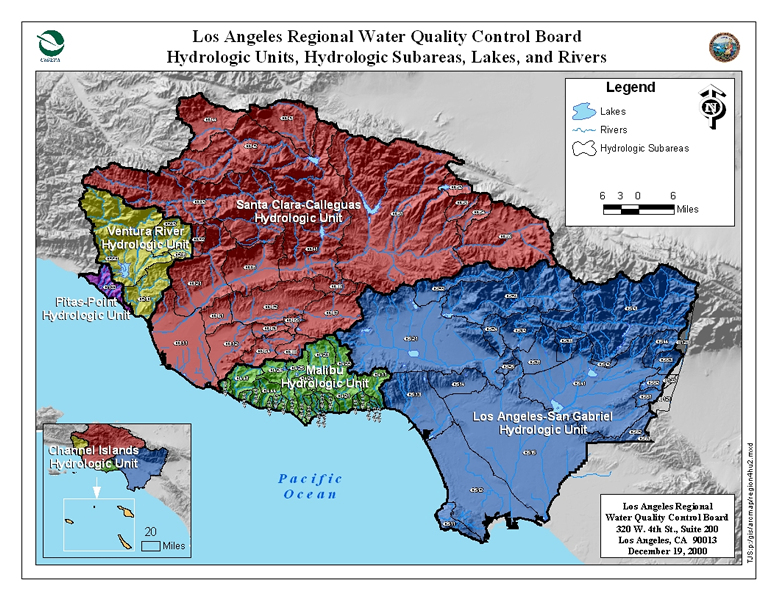 Los Angeles and Ventura County Hydrologic Units