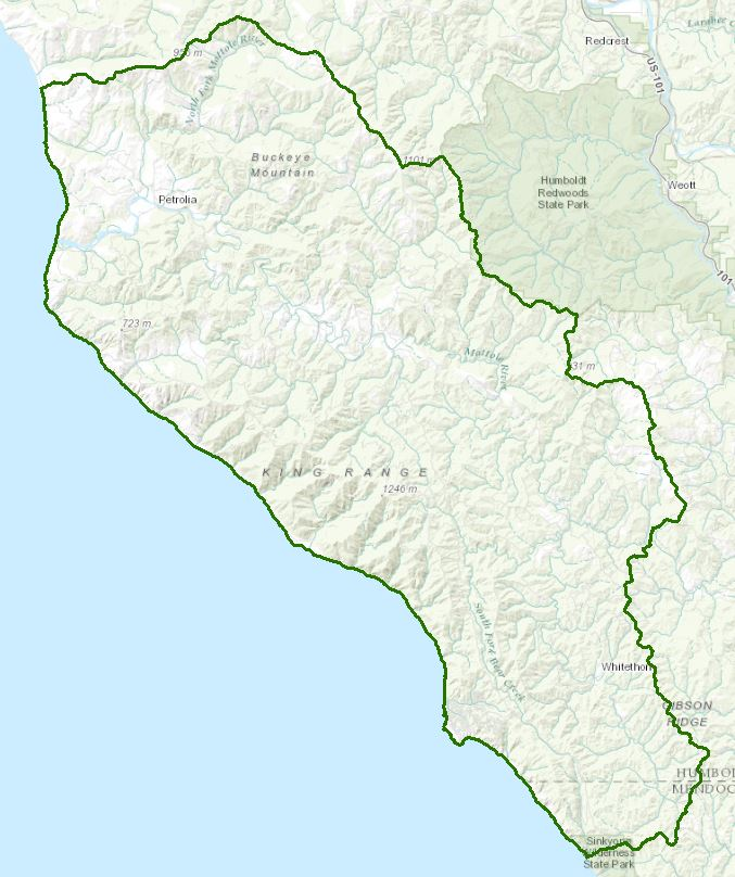 Mattole River California Northcoast Regional Water Quality - California river map