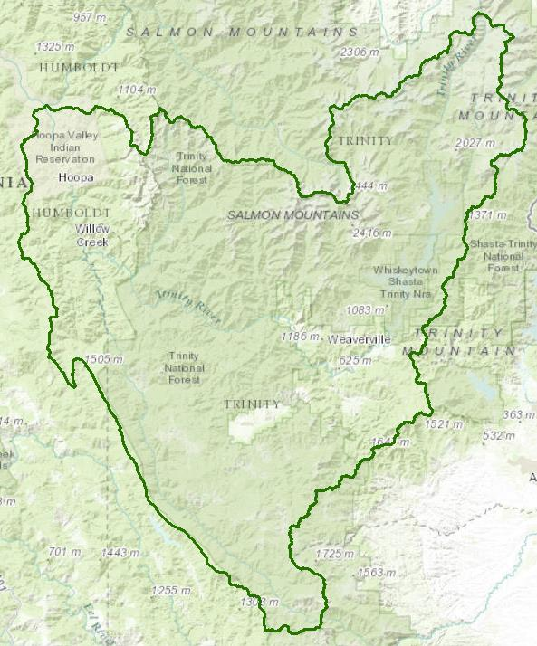 upper trinity river watershed - 593×714