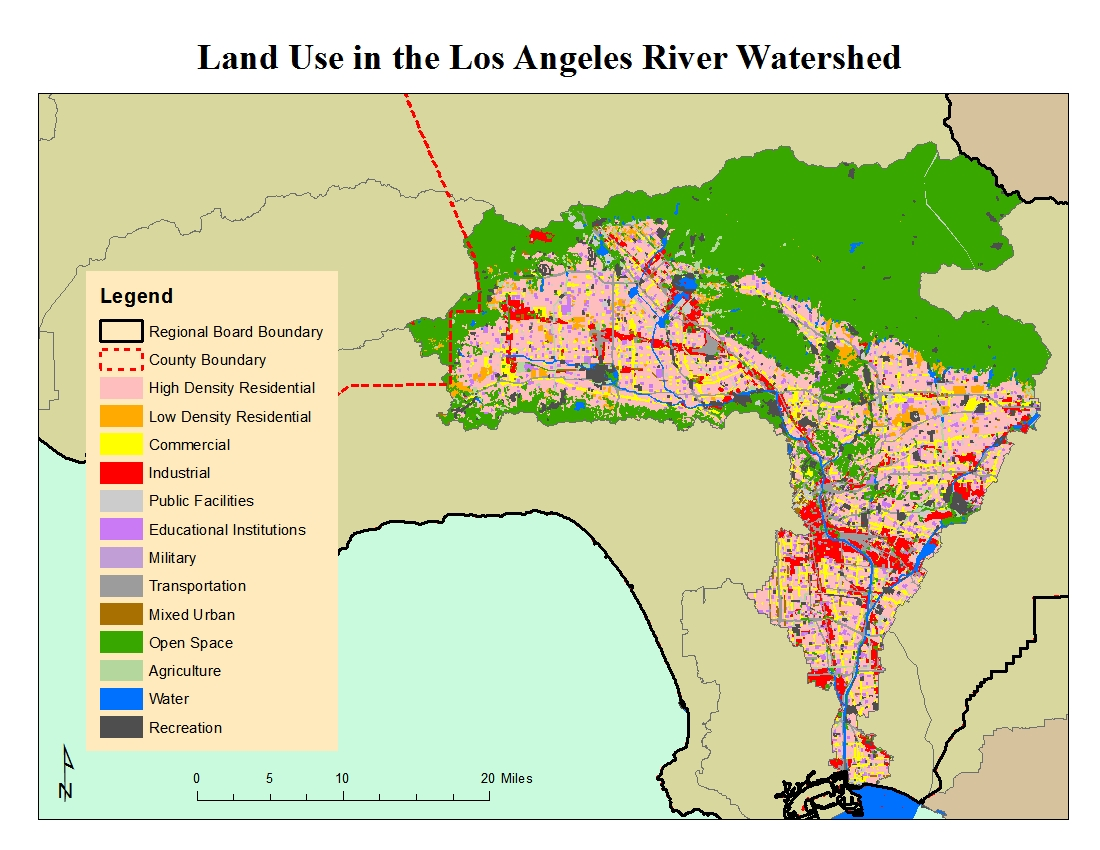 LOS ANGELES RIVER WATERSHED - Los angeles pollution map