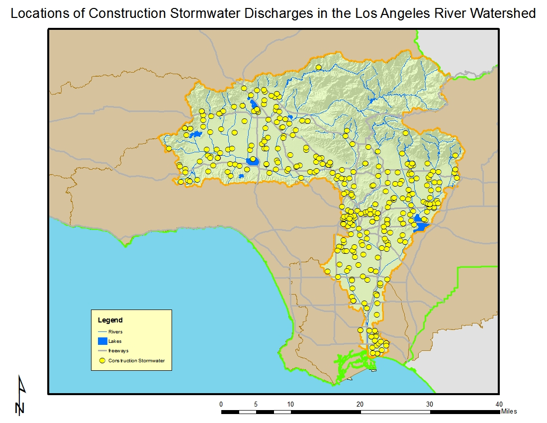 LOS ANGELES RIVER WATERSHED - Los angeles river map