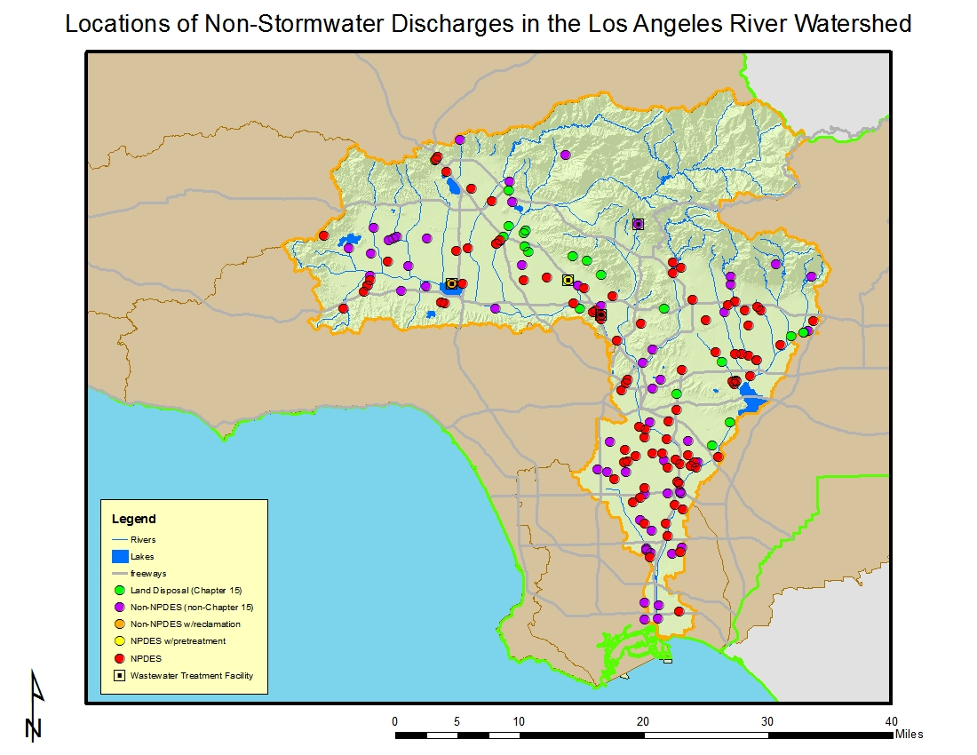 LOS ANGELES RIVER WATERSHED - Los angeles map location