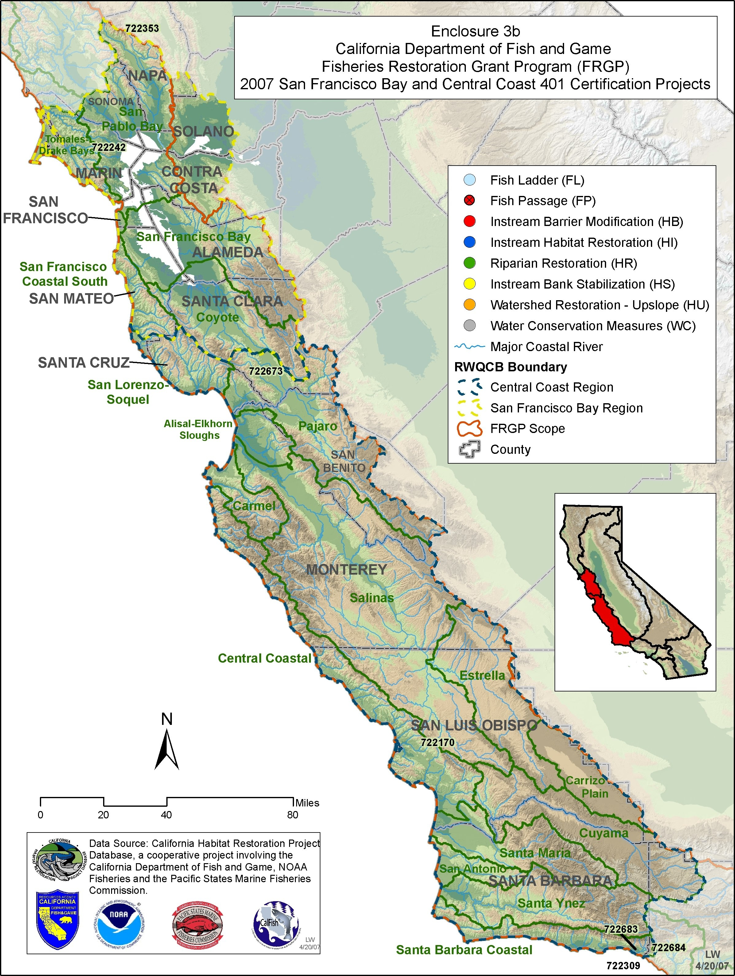 State water resources control board for Ca dept of fish and game