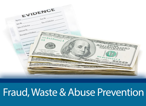 Fraud, Waste, and Abuse Prevention page