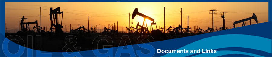 Oil and Gas Banner - Documents and Links